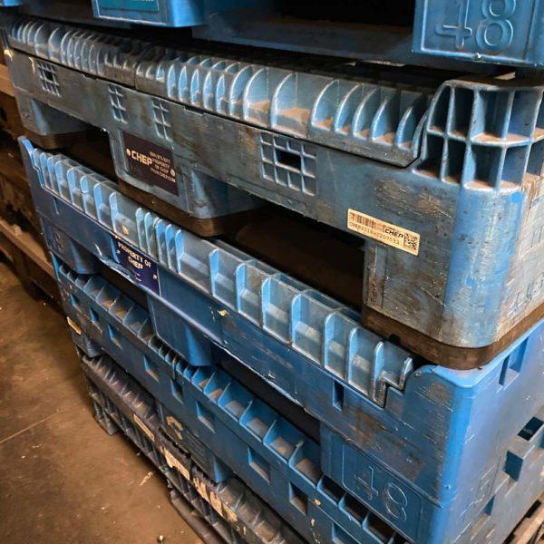 Bin recycling, plastic bin recycling