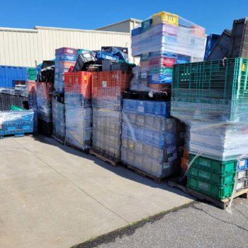 Plastic pallets, plastic pallet recycling, scrap plastic pallets